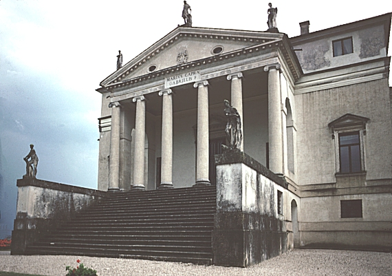 Front Elevation European : Images of the rotonda villa capra vicenza italy begun