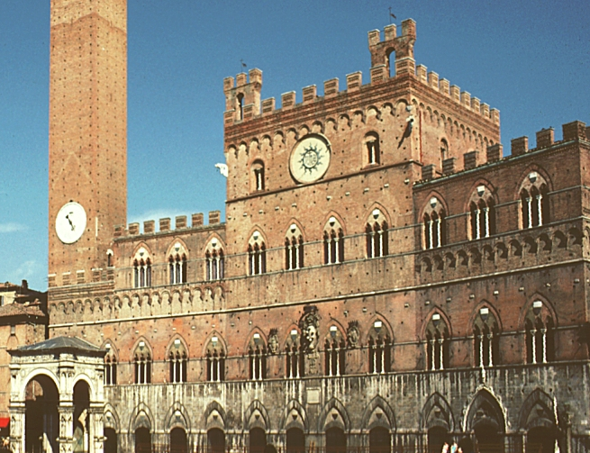 images of the palazzo pubblico  siena  italy  digital imaging project  art historical images of