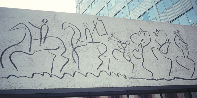 Frieze by Picasso, Barcelona