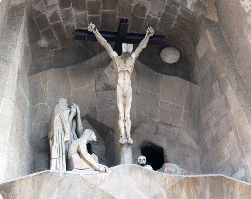 images of temple of the sagrada familia  passion facade by