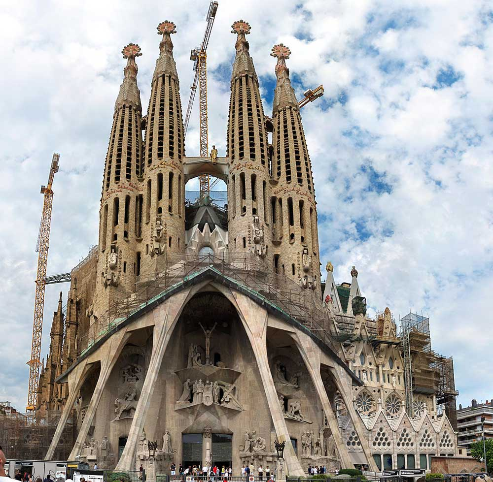 Images of temple of the sagrada familia passion facade by for Barcelona famila