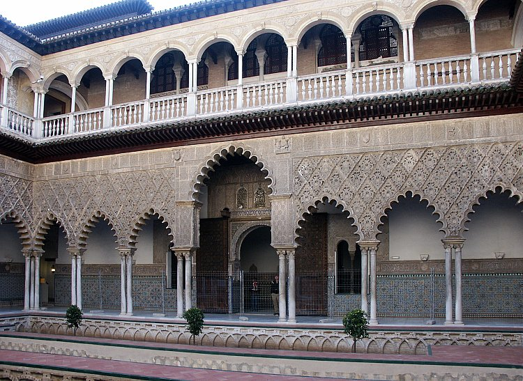 Images of the Alcazar, Seville Spain.