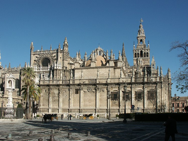 Images of the Cathedral, Seville Spain