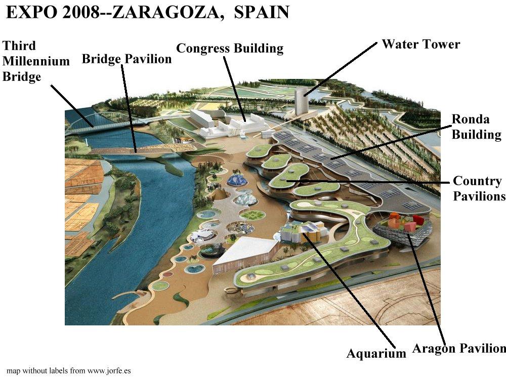 Images of the Bridge Pavilion at 2008 Expo in Zaragoza by Zaha Hadid