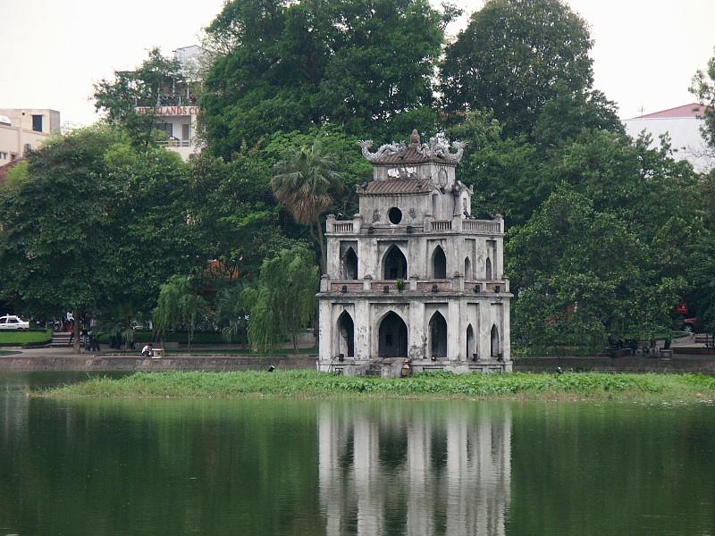 images of hoan kiem lake and ngoc son temple hanoi vietnam. Black Bedroom Furniture Sets. Home Design Ideas