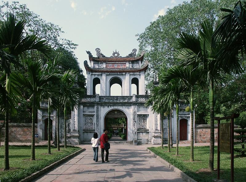 hanoi temple of literature, temple of literature : Indo-China