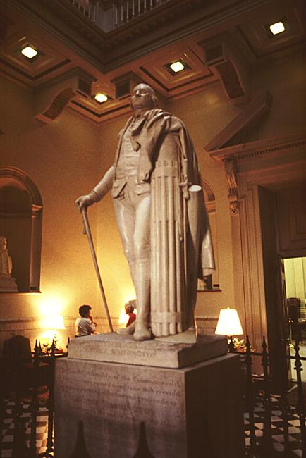 Statue of George Washington, Virginia State Capitol by Houdon