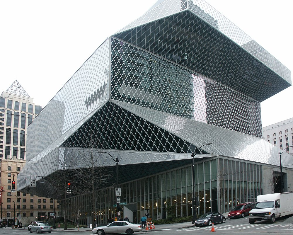 images of the central library  seattle  washington by rem