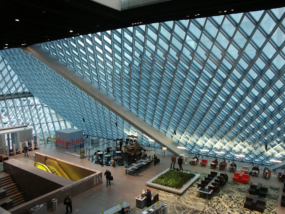 Images Of The Central Library Seattle Washington By Rem Koolhaas Oma